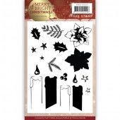 Clearstamp - Precious Marieke - Merry and Bright Christmas - Candle