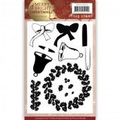 Clearstamp - Precious Marieke - Merry and Bright Christmas - Wreath