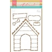 Marianne D Stencil Doghouse by Marleen PS8030 149x210mm (04-19)*