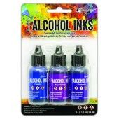 Ranger Alcohol Ink Ink Kits Indigo/Violet Spectrum 3x15 ml TAK69775 Tim Holtz (02-20)