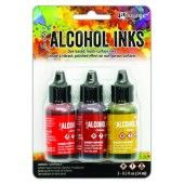 Ranger Alcohol Ink Ink Kits Orange/Yellow Spectrum 3x15 ml TAK69645 Tim Holtz (02-20)