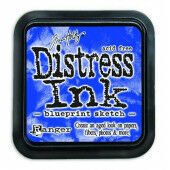Ranger Distress Inks pad - blueprint sketch - stamp pad - Tim Holtz (TIM43195)