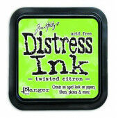 Ranger Distress Inks pad - twisted citron - stamp pad - Tim Holtz (TIM43294)