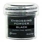 Ranger Embossing Powder 34ml - black super fine EPJ37392