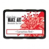 Ranger MAKE ART Dye Ink Pad Carnation Red Wendy Vecchi (08-19) (WVD64312)