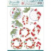 3D Pushout - Jeanines Art - Winter Classics - Winterberries
