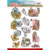 3D Pushout - Yvonne Creations - Country Life - Farm Animals