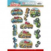 3D Pushout - Yvonne Creations - Country Life - Tractors