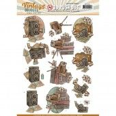 3D Pushout - Yvonne Creations - Vintage Objects - Vintage Cameras