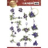 3D Pushout - Precious Marieke - Merry and Bright Christmas - Amaryllis in Purple
