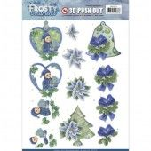 3D Pushout -  Jeanine's Art - Frosty Ornaments - Green Ornaments