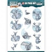 3D Pushout -  Amy Design - Keep it Cool - Cool Deers