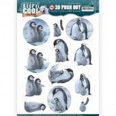 3D Pushout -  Amy Design - Keep it Cool - Cool Penguin