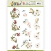 3D Pushout - Precious Marieke -  Happy Spring - Happy Birds