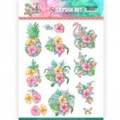 3D Pushout - Yvonne Creations - Happy Tropics -Tropical Flowers
