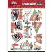 3D Pushout - Yvonne Creations - Family Christmas - Happy Family