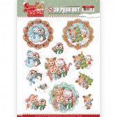 3D Pushout - Yvonne Creations - Sweet Christmas - Sweet Winter Animals
