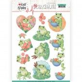 3D Pushout - Jeanine's Art - Happy Birds - Well Wishes - Frogs