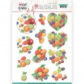 3D Pushout - Jeanine's Art - Happy Birds - Well Wishes - Fruits
