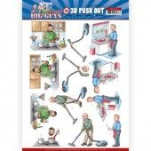 3D Pushout - Yvonne Creations - Big Guys - Workers - Big Cleaning