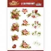 3D Pushout - Amy Design - Touch of Christmas - Red Flowers