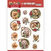 3D Pushout - Amy Design - Christmas Pets - Christmas dogs