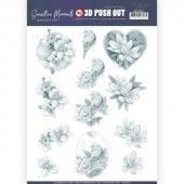 3D Pushout - Jeanine's Art - Sensitive Moments - Grey Rose