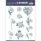 3D Pushout - Jeanine's Art - Sensitive Moments -  Grey Calla Lily