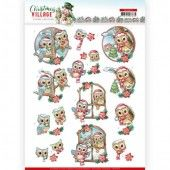 3D Pushout - Yvonne Creations - Christmas Village - Christmas Owls