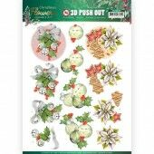 3D Pushout - Jeanine's Art - Christmas Flowers - Christmas Bells