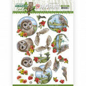 3D Pushout - Amy Design - Amazing Owls - Meadow Owls