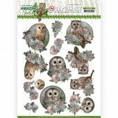 3D Pushout - Amy Design - Amazing Owls - Romantic Owls