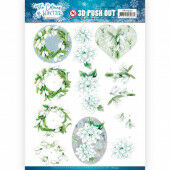 3D Pushout - Jeanine's Art - The colours of winter - White winter flowers