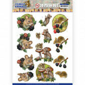 3D Push Out - Amy Design Forest Animals - Mouse