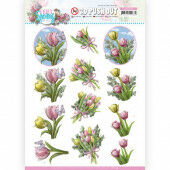 3D Push Out - Amy Design - Enjoy Spring - Bouquets of Tulips
