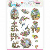 3D Push Out - Amy Design - Enjoy Spring - Spring Decorations