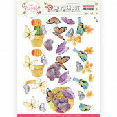 3D Push Out - Jeanine's Art - Butterfly Touch - Orange Butterfly