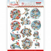3D Push Out - Yvonne Creations - Wintry Christmas - Christmas Owls