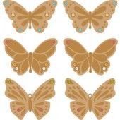 Embossed Butterflly Gem Copper