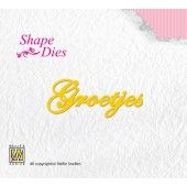 Shape Dies - Dutch text Groetjes (SD047)