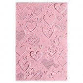 Sizzix 3-D Textured Impressions Embossing Folder - Hearts 663628 Courtney Chilson (10-19)