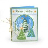 Sizzix Framelits Die Set With Stamp - Winter Trees 663684 Jordan Caderao (07-19)