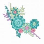 Sizzix Thinlits Die Set - 15PK Succulent Wreath 663366 Lisa Jones (04-19)