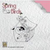Clearstamp - Spring Birds - My birdhouse - SpB002