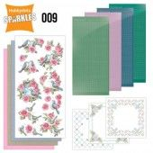 Hobbydots Sparkles - Set 9 - Birds and Roses