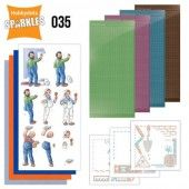 Hobbydots Sparkles - Set 35 - Yvonne Creations - Big Guys - Workers