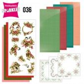 Hobbydots Sparkles - Set 36 - Precious Marieke - A Touch of Christmas - Birds