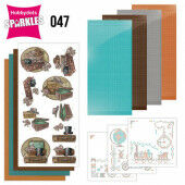 Hobbydots Sparkles - Set  47 - Yvonne Creations - Good Old Days - Suitcase