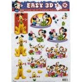 3D Push out - Disney - Mickey and friends  8
