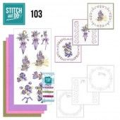 Stitch and Do 103 - Flowers in Purple
